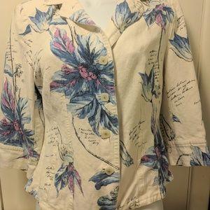 Emma James Floral Blazer Size 8 by Liz Claiborne
